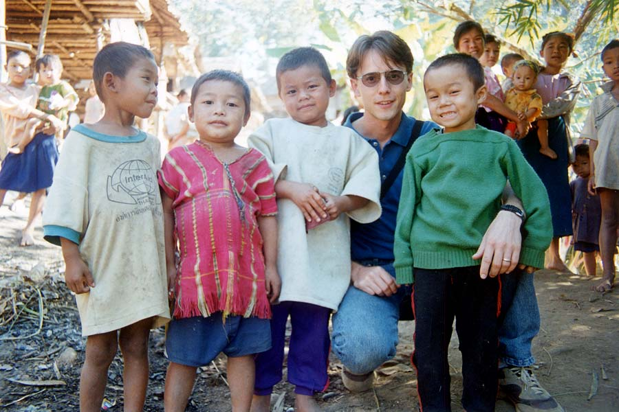 Steve with children from Rose Mu's orphanage.